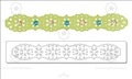 Форма для вырубки края Lace Edging, серия Sizzlits Decorative Strip Die, Sizzix