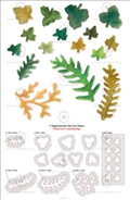 Форма для вырубки Leaves - Fern & Ivy, серия Thinlits Die, Sizzix